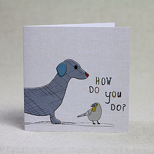 Dog And Bird Children's Birthday Card - birthday cards