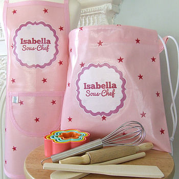 Pink Stars Personalised Baking Set