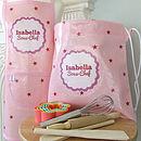 Pink Stars Personalised Baking Set