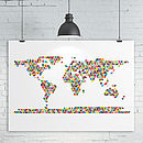 Triangles World Map Print