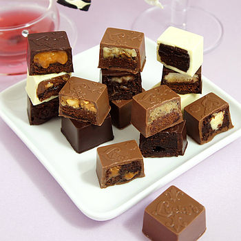 Six Chocolates Filled With Cakes