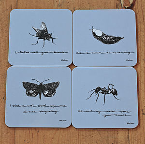 Insect Melamine Coasters - placemats & coasters