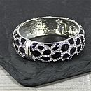 Leopard Print Crystal Bangle