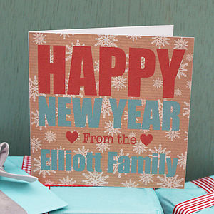Personalised 'Happy New Year' Card - new year cards