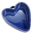 Rustic Heart Shaped Ceramic Oven Dish