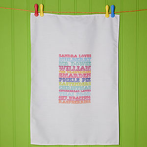 Personalised Tea Towel - kitchen accessories
