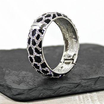 Leopard Print Crystal Bangle