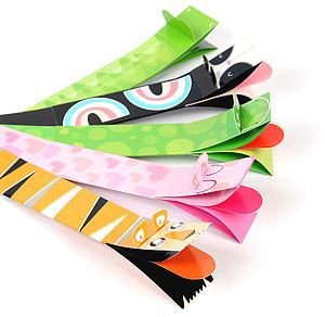 Pack Of Five Wild Puppet Bookmarks - toys & games