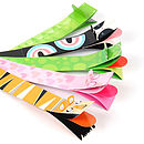 Pack Of Five Wild Puppet Bookmarks