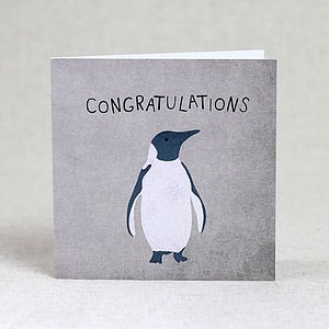 Congratulations Penguin Card