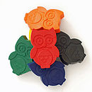 Set Of Six Owl Crayons