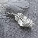 Sterling Silver Furl Feather Necklace