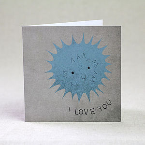 'I Love You' Sea Urchin Valentine's Day Card