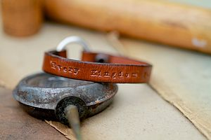 Personalised Tan Urban Ranch Loop Mens Bracelet