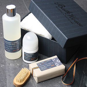 Men's Bergamot And Amber Shower Gift Box