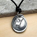 Wax Seal Deer Necklace