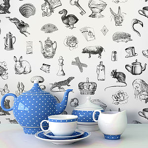 'Alice In Wonderland' Self Adhesive Wallpaper - wallpaper