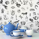 'Alice In Wonderland' Self Adhesive Wallpaper