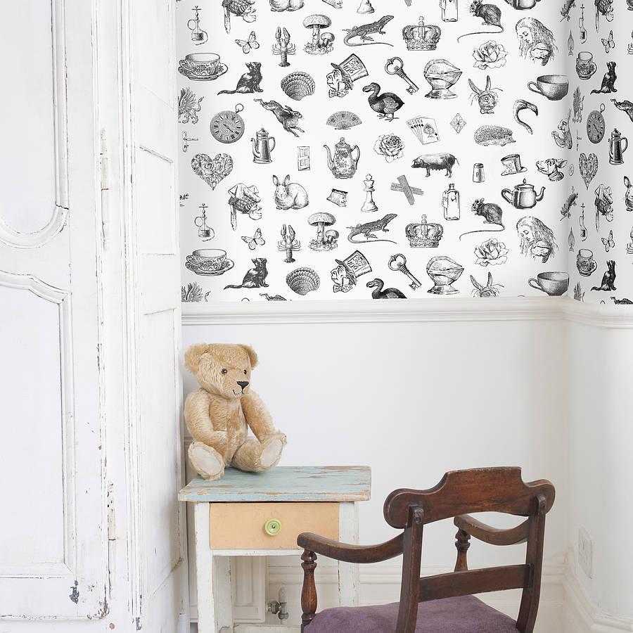 Alice In Wonderland Self Adhesive Wallpaper By Oakdene Designs