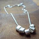 Five Silver Loop Necklace