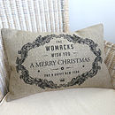 Personalised Christmas Rectangular Cushion