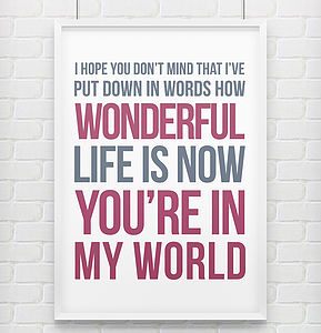 'In My World' Print - home sale