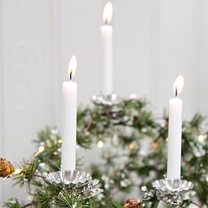 Pack Of 20 White Candles - home accessories