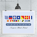 Personalised Nautical Flag Print