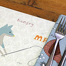 Thumb fox character table placemat