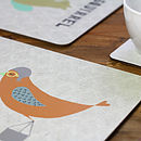 Bird Character Table Placemat