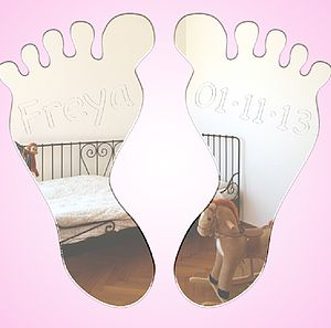 Personalised Baby Feet Mirror - baby & child