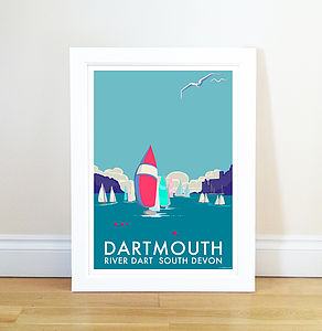 Dartmouth Vintage Style Seaside Poster