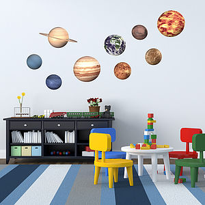 'Space Planet' Wall Stickers - living room