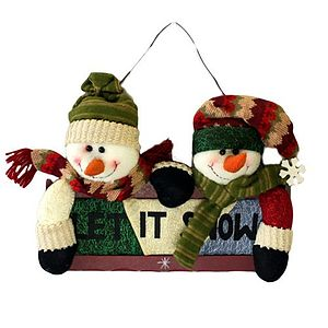 Let It Snow Christmas Hanging Sign