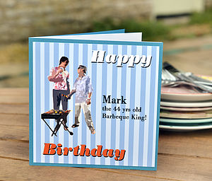 Men's Personalised Barbecue Card