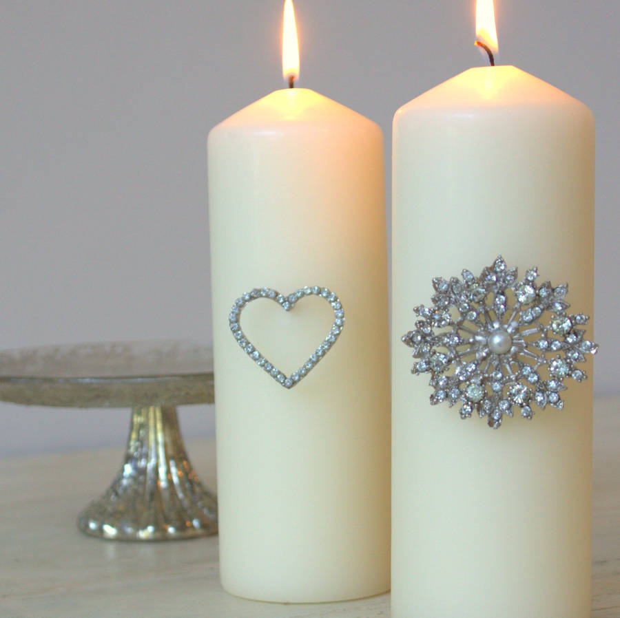 Heart Diamante Candle Pin By Ella James