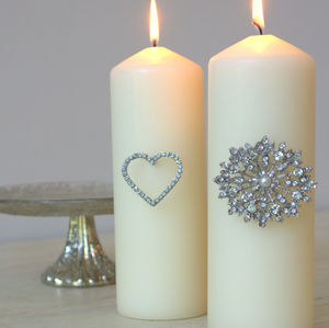 Heart Diamante Candle Pin - christmas sale