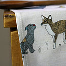 Dog And Friends Tea Towel