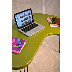 Desk Olive Green Mid Century Modern - office & study