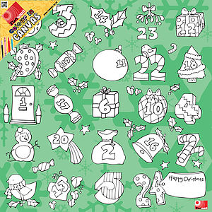 Colour In Advent Canvas - advent calendars