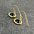 Black Onyx Oval Drop Earrings