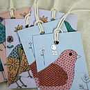 Set Of Six Bird And Floral Gift Tags
