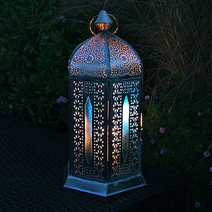 Traditional Hexagon Bazaar Lantern - candlesticks & tea light holders