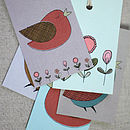 Set Of Five Little Birds Gift Tags