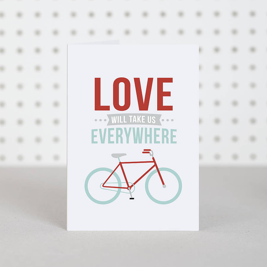Bike Lover Valentines Anniversary Card By Doodlelove