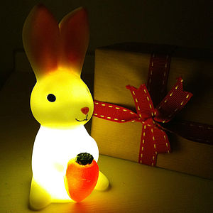 Baby Bunny And Carrot Mini Nightlight - children's lighting