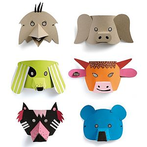 Animal Masks Craft Set - fancy dress