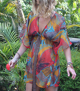 Flamenco Kaftan Overcoat - swimwear & beachwear