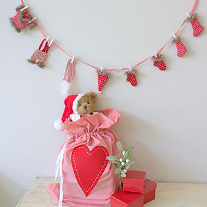 Santas Washing Line Garland - christmas parties & entertaining