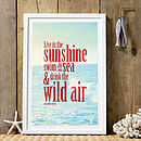 'Live In The Sunshine' Graphic Art Print